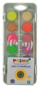 Deckfarbenkasten Fluo und Perl, 12 Farben