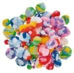 Pompons (1 - 5 cm) meerkleurig, 100 stuks