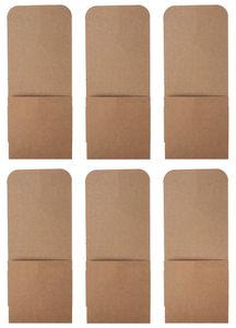 Kraftkarton-Bestecktaschen, 6 Stück (10 x 24 cm)