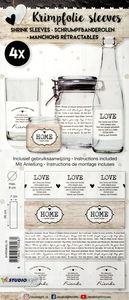 Manchon rétractable- Love & Home, lot de 4