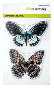 CraftEmotions Silikonstempel 2er-Set Schmetterling