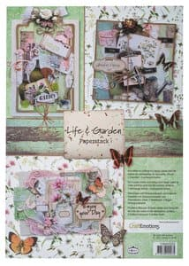 CraftEmotions Motivpapier 11 Bl.Life and Garden A4