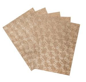 Metallic papier reliëf - Warm Dahlia (A4) 5 vel