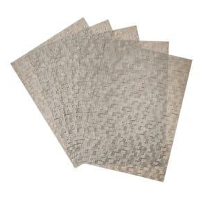 Metallic papier reliëf - Pewter Slates (A4) 5 vel