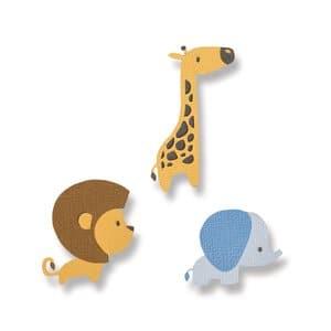 Sizzix Thinlits Die - Baby Jungle Animals, 9-dlg