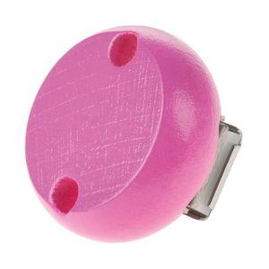 Houten clip, speekselvast (30 mm) roze