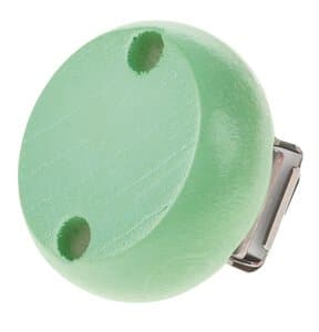 Houten clip, speekselvast (30 mm) pastelgroen