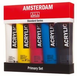 Amsterdam Primär Acrylfarben Set (5x 120ml)