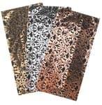 Wasplaten - metallic ornamenten (20x10 cm) 3 stuks