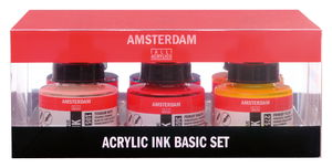 Amsterdam acrylic inkt - set (6 x 30 ml)