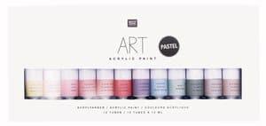 Art Acrylfarben, pastell (12x 12ml)