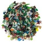 Mozaïek glasscherven (8 - 20 mm) bont, 2 kg