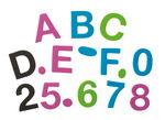 Megaset foam letters en cijfers, 1800 stuks
