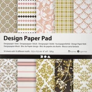 Motivblock, 50 Blatt Paper Pad grün/rosa