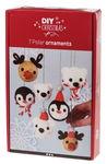 Bastelset Weihnachtskugeln Polartiere