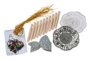 Bastelset, 10er-Set Elfen aus Wäscheklammern