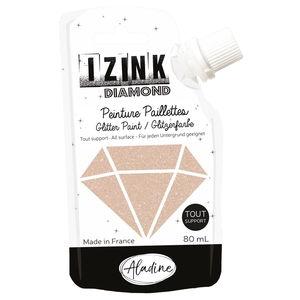 Izink Diamond Glitzerfarbe, 80 ml kupfergold