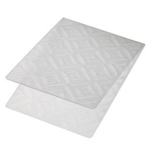 Prägeschablone Diagonal/Quadrate (10,6 x 15 cm)
