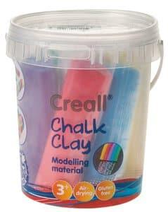 Creall Chalk Clay, 6er-Set Knetkreide (750g Eimer)