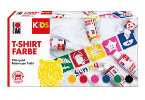 Peinture pour T-Shirt enfants Marabu,6 couleurs