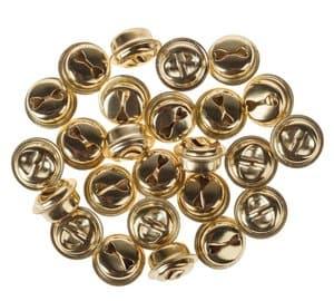 Metalen belletjes (15 mm) goudkleur, 25 stuks
