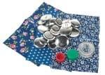 Button-Set für 12 Knöpfe, blau