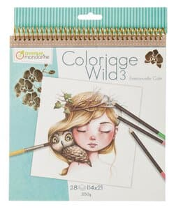 Tekenblok Clairefontaine - Coloriage Wild 3