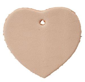 Leder-Anhänger Herz, (50 x 45 mm)
