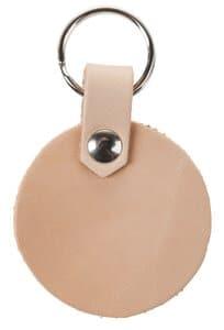 Porte-clés en cuir cercle, avec anneau