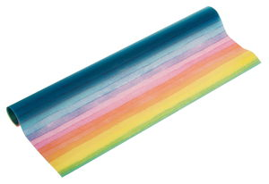Transparant papier (50 x 61 cm) regenboog stroken