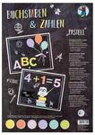 Fotokarton Buchstaben & Zahlen, pastell bunt