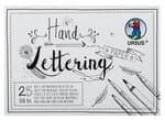 Handlettering-Block, 25 Blatt weiß (DIN A6)