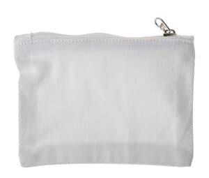 Katoenen portemonnee (12,5 x 9 cm) wit