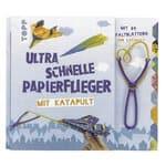 Duits boek: Utrasnelle papieren vliegtuig+katapult