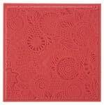 Textuur mat - Floral (9 x 9 cm)