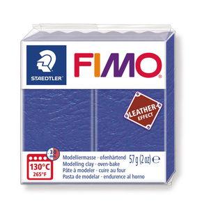 FIMO leereffect boetseerklei (57 g) indigo
