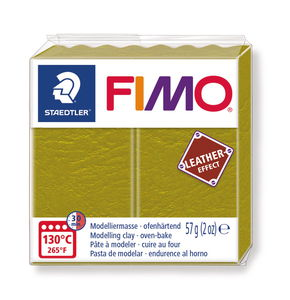 FIMO effect Leder, 57 g olive