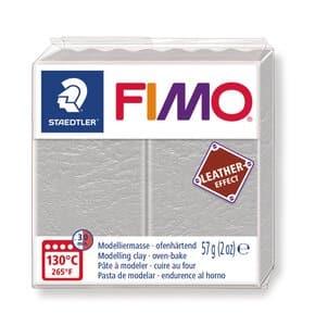 FIMO leereffect boetseerklei (57 g) duifgrijs