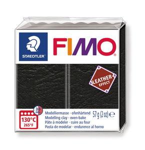 FIMO effect Leder, 57 g schwarz