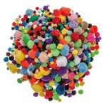 Lot XXL de pompons, env. 1200 pièces couleur