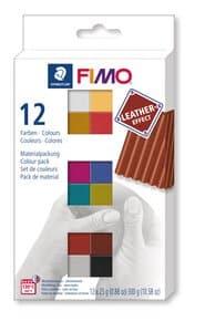 FIMO effect Leder, Materialpackung (12x25g)