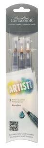 CRETACOLOR Artist Studio - Waterpenselen, 3 stuks