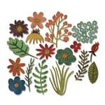 Sizzix Thinlits Die - 15 St. Funky Floral
