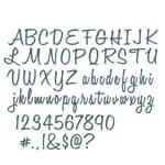 Sizzix Thinlits Die - 69 St. Script Upper & Lowe