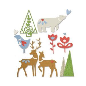 Sizzix Thinlits Die - Christmas elements, 10 stuks