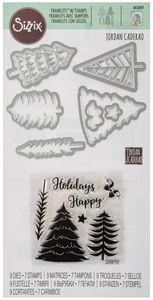 Sizzix Framelits Die W/stamps - Winter Trees