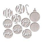Sizzix Thinlits Die - Cirkels&Christmas, 12 stuks