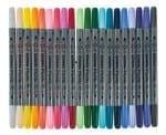 Textilmalstifte, 20er-Set pastell