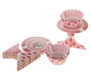 Cupcake decoratie set - Rozentuin