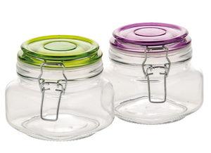 Glazen inmaakpotjes met beugelsluiting, 2 stuks